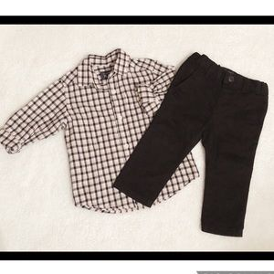 NWT Children's Place Boys Dress Up Outfit 9-12 mts